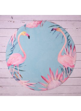 Flamingo round yoga mat